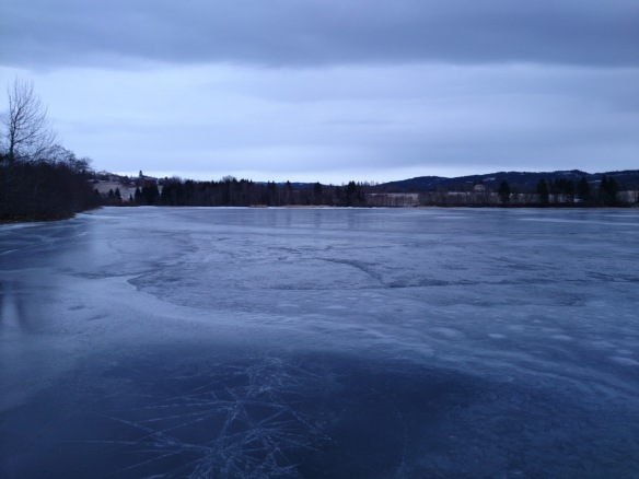 Stikkord: blankis, snømangel, februar 2014. Foto: Kristian Julien